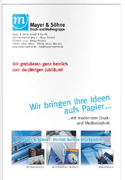 Anzeige Mayer & Söhne Druck und Mediengruppe GmbH