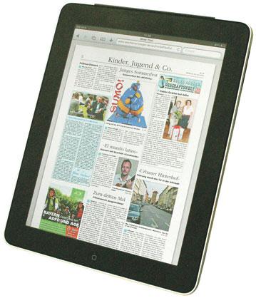 Der Wochenanzeiger auf dem iPad