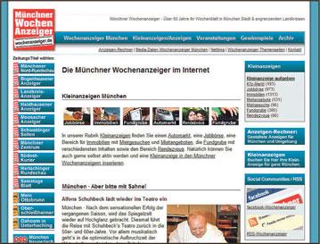 Homepage Wochenanzeiger