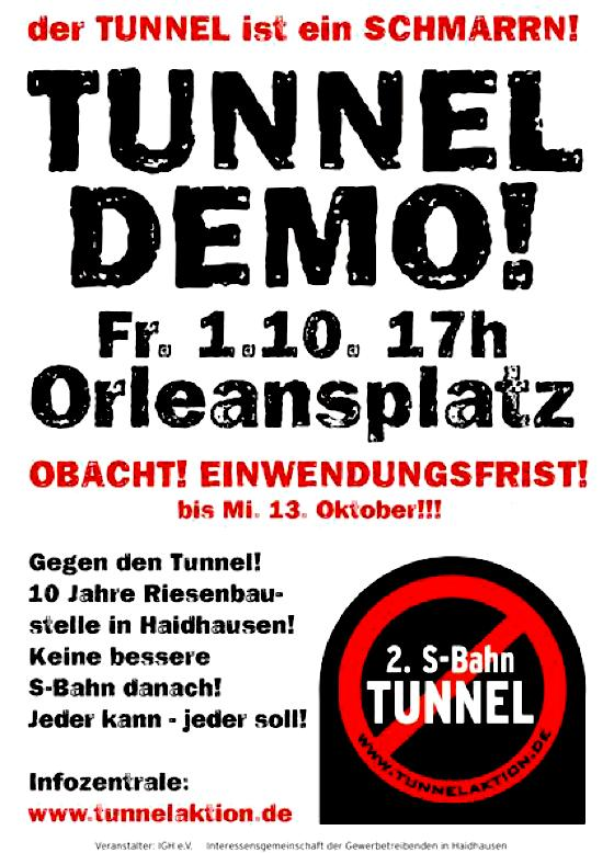 Flyer zur Demonstration auf dem Orleansplatz.	Foto: VA