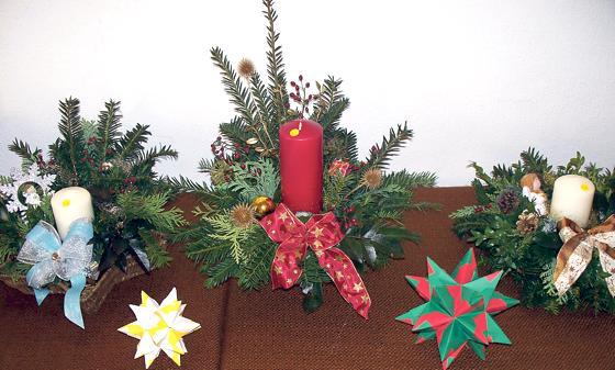 Gebastelte Weihnachtsdeko.Berg Am Laim Weihnachtsdeko In St Pius Adventsbasar
